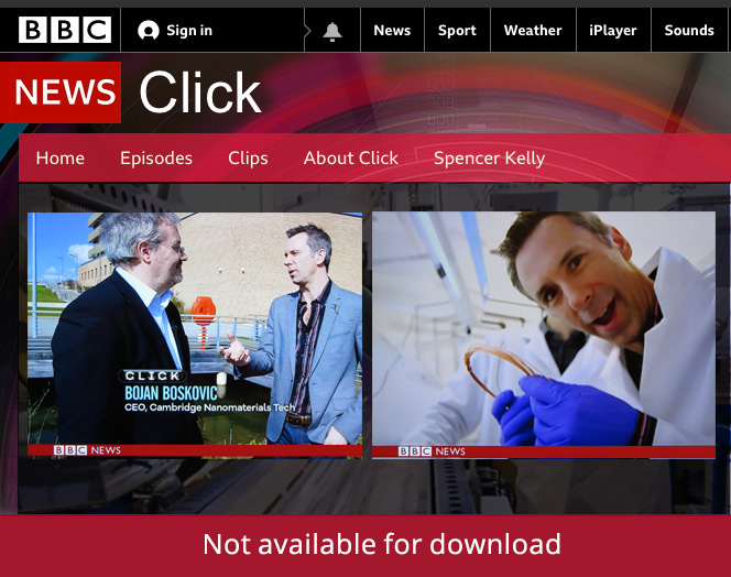 UltraWire on BBC Click
